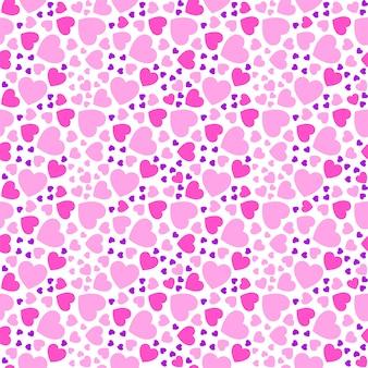 Patrones sin fisuras con corazones de color rosa