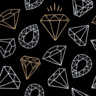 Patrones sin fisuras de diamante