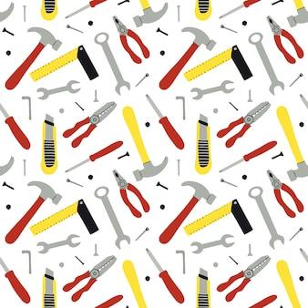 Patrones sin fisuras de diferentes instrumentos de construcción