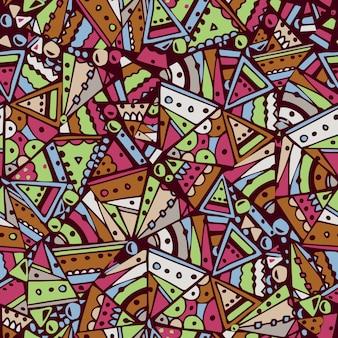 Patrones sin fisuras con diseño étnico. ilustración vectorial