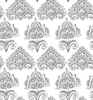 Patrones sin fisuras con elementos florales dibujados a mano