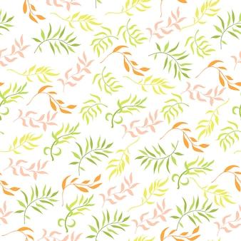 Patrones sin fisuras con elementos vegetales