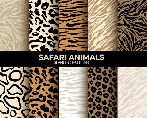 Patrones sin fisuras con estampado de pieles de animales