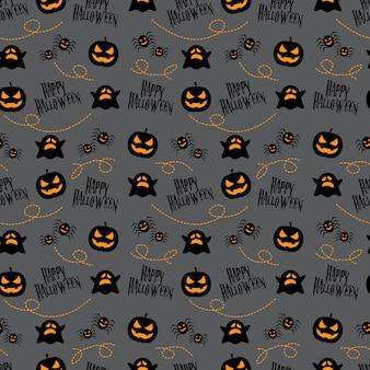 Patrones sin fisuras feliz halloween