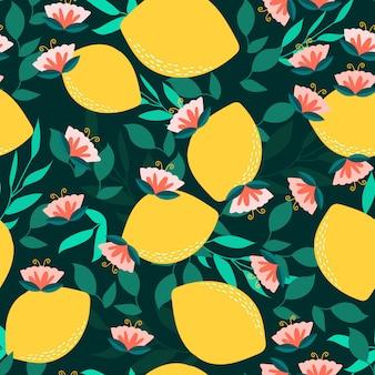 Patrones sin fisuras con flor de limón