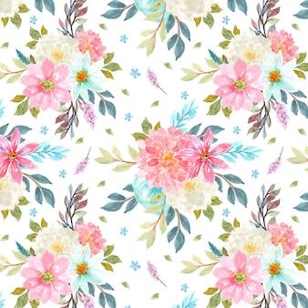 Patrones sin fisuras con flores de colores