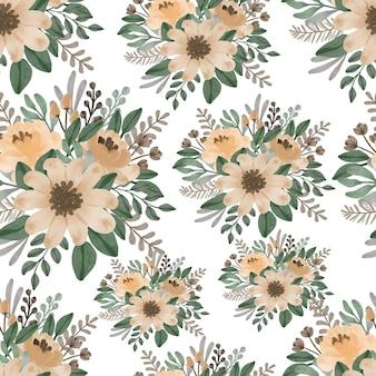 Patrones sin fisuras con flores y hojas