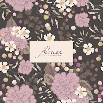 Patrones sin fisuras con flores silvestres