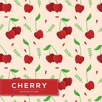 Patrones sin fisuras con frutos de cereza