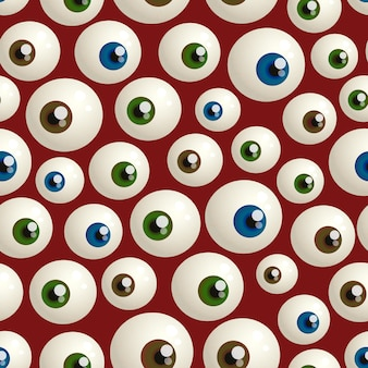 Patrones sin fisuras para halloween con globos oculares