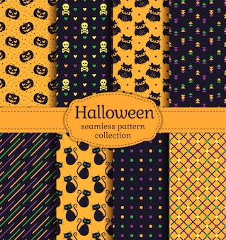 Patrones sin fisuras de halloween