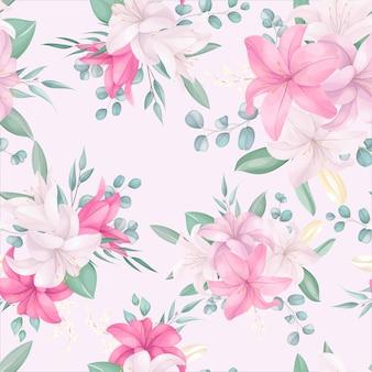 Patrones sin fisuras con hermosas flores