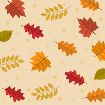 Patrones sin fisuras con hojas de otoño