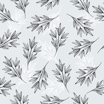 Patrones sin fisuras de hojas y papel o papel tapiz
