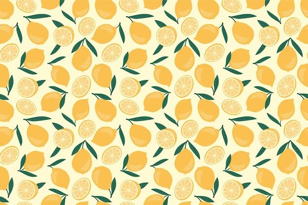 Patrones sin fisuras con limones.