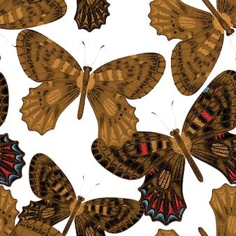 Patrones sin fisuras con mariposas.