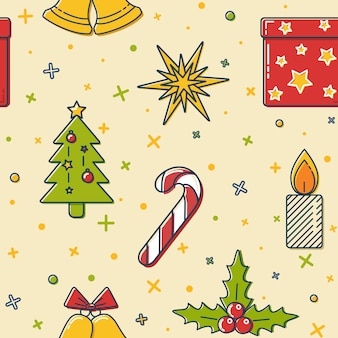 Patrones sin fisuras de navidad