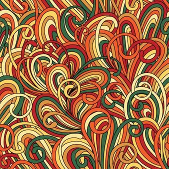 Patrones sin fisuras con ondas abstractas