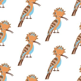 Patrones sin fisuras con pájaros