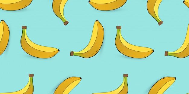 Patrones sin fisuras de plátano