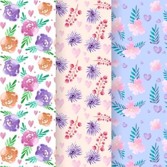 Patrones florales del día de san valentín