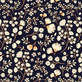 Patrones florales sin fisuras