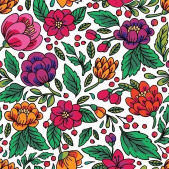 Patrones florales sin fisuras.