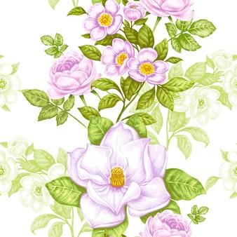 Patrones florales vintage sin fisuras
