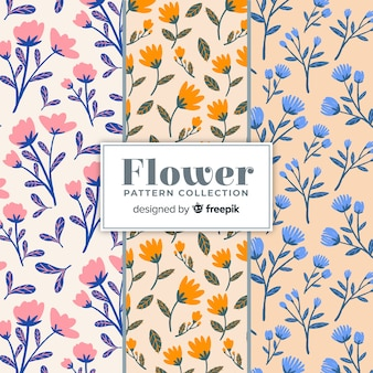Patrones flores dibujadas a mano