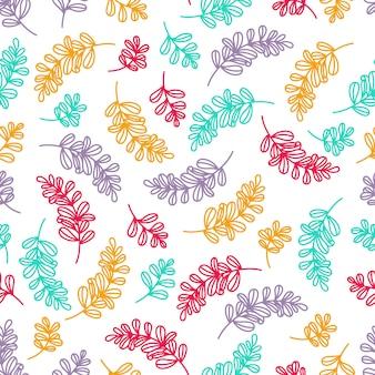 Patrones de follaje colorido