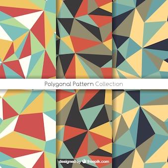 Patrones geométricos con polígonos coloridos