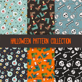 Patrones de halloween con dibujos