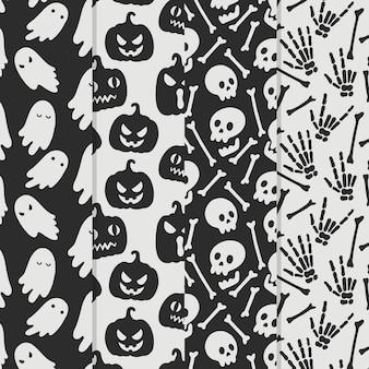 Patrones de halloween de diseño dibujado a mano