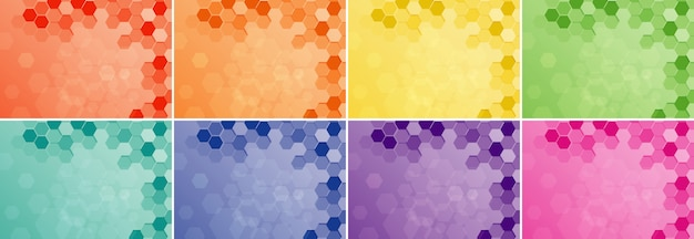 Con patrones hexagonales