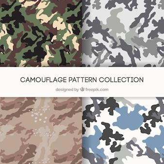 Patrones libres de camuflaje para ilustrador y photoshop
