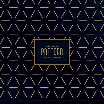 Patrones de líneas geométricas negras y doradas de estilo vintage