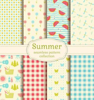 Patrones de picnic de verano.