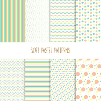 Patrones suaves en colores pastel