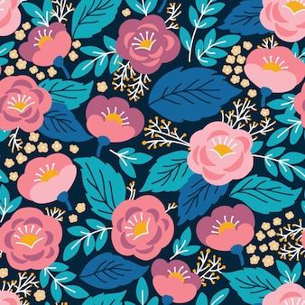 Patrones vintage sin fisuras con la flor.