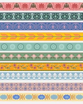 Patrones vintage inspirados en la gramática del ornamento