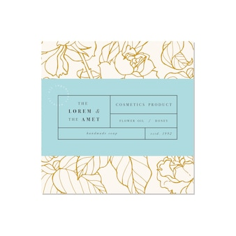 Patten para cosméticos con diseño de plantilla de etiqueta patrón o papel de regalo para paquete