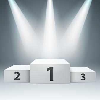 Pedestal para ganadores - infografía de negocios.