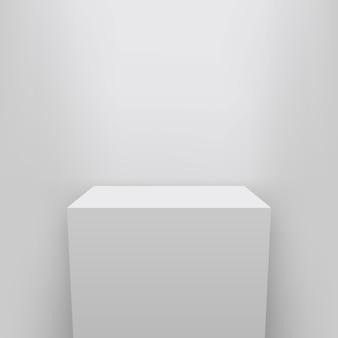 Pedestal de museo, escenario, presentación en podio 3d.