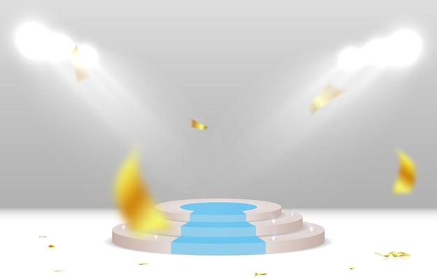 Un pedestal o plataforma para honrar a los ganadores ilustración vectorial