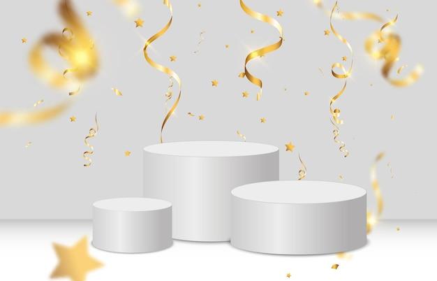 Pedestal o plataforma para honrar a los ganadores del premio