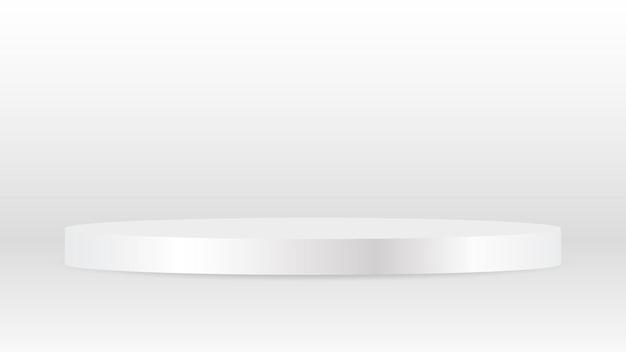 Pedestal redondo en blanco circular blanco premiado podio ganador por publicidad de exhibición de productos de lujo