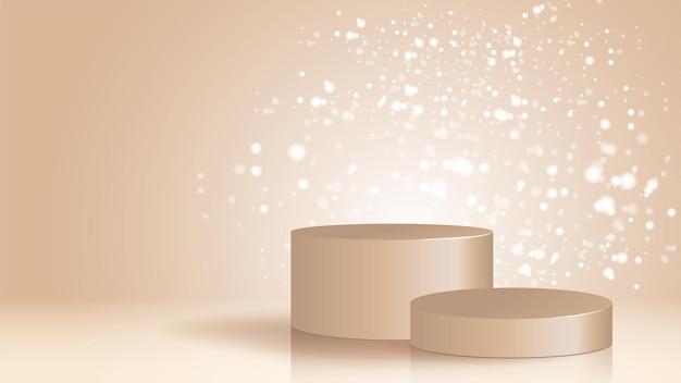 Pedestal de textura para exhibición de crema facial para venta anual o venta en festivales cosmético elegante