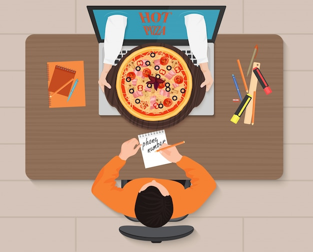 Pedido de pizza en línea