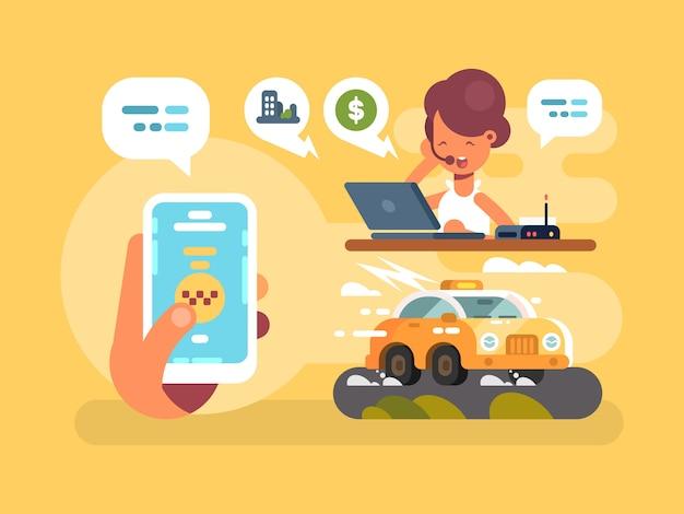 Pedido de taxi en línea
