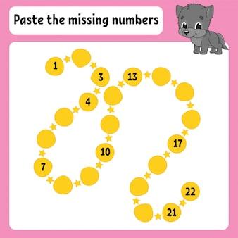 Pega los números que faltan